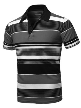 Product Image FashionOutfit Men s Casual Regular fit Cotton Basic Striped  Short Sleeve Polo T-Shirt f2e920601