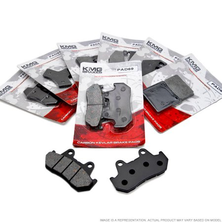KMG Front Brake Pads for 2005-2009 Triumph Speedmaster 865cc - Non-Metallic Organic NAO Brake Pads Set - image 3 de 4