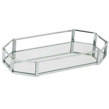 Mirrored Vanity Tray (Home Details Octangular Chrome Vanity Mirror Tray )