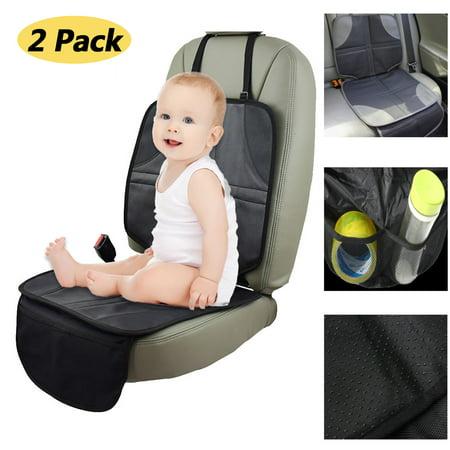 2 Pack Infant Baby Car Seat Protector Mat Cushion Anti Slip Waterproof Easy Clean Black