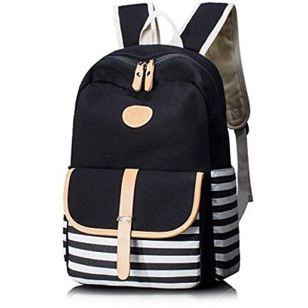 3f52f23afb3a Cute Thickened Canvas School Backpack Laptop Bag Shoulder Daypack Handbag