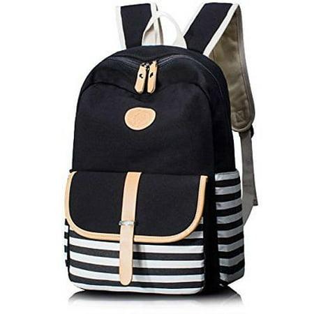 6073ddff0190 Cute Thickened Canvas School Backpack Laptop Bag Shoulder Daypack Handbag