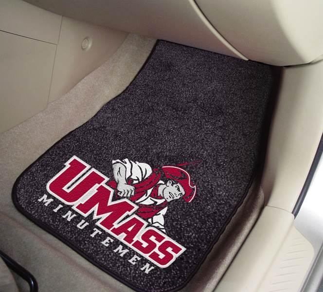 UMass Carpeted Car Mats - Set of 2