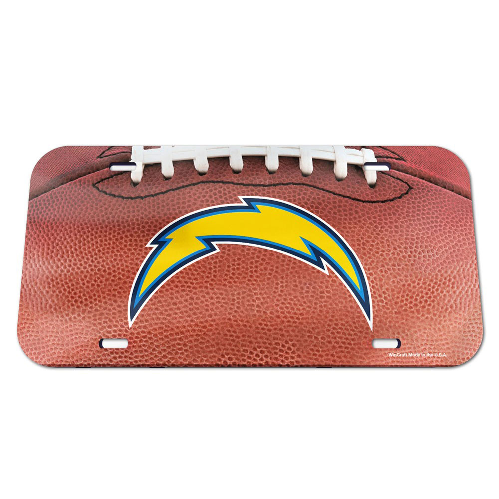 Los Angeles Chargers WinCraft Football Crystal Mirror License Plate - No Size