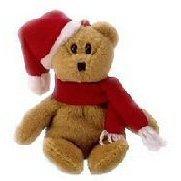 Ty 1997 Holiday Teddy - Bear, Ty Jingle Beanies - 1997 Holiday Teddy Bear By Jingle Beanies Ship from