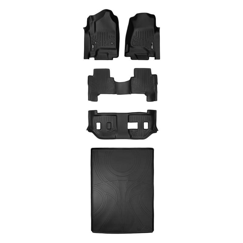 SMARTLINER FloorMats For Cadillac Escalade ESV 2015-2016 Black A0136//B0166//C0166