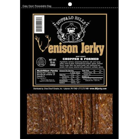 - Buffalo Bills Venison Jerky Strips 10oz Pack (20 venison jerky 7