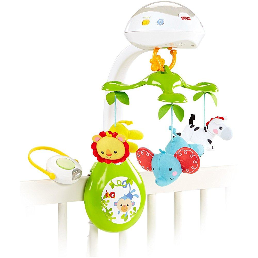 Fisher Price deluxe projection mobile, rainforest friends...