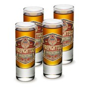 SET OF 4 Firefighters United We Stand America's Bravest 2OZ Shooter Shot Glasses