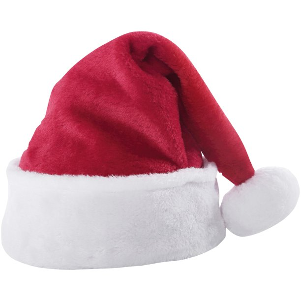 Holiday Time Large Size Classic Bright Red White Santa Hat Walmart Com Walmart Com