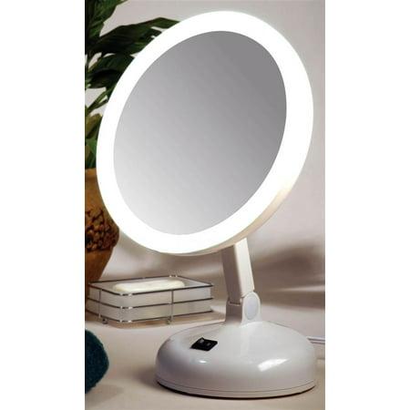 10x Magnifying Circle Lite Mirror Walmart Com