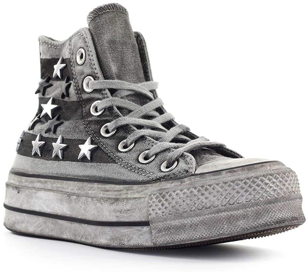 CONVERSE LIMITED EDITION Luxury Chuck Taylor All Star Vintage Star Studs Platform High To Sneakers White / Vintage