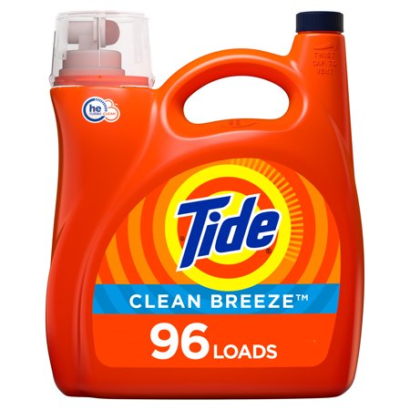 Tide Clean Breeze HE, 96 Loads Liquid Laundry Detergent, 150 Fl Oz