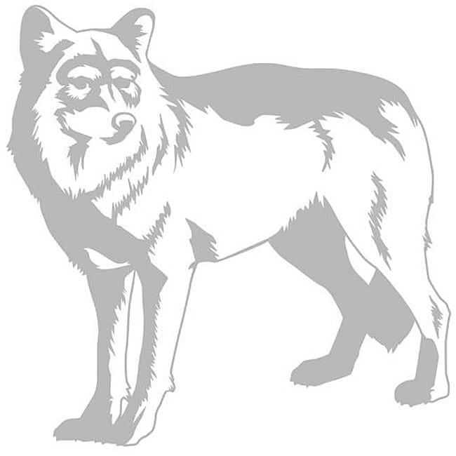 Borders Unlimited Sudden Shadows Wolf Wall Decal