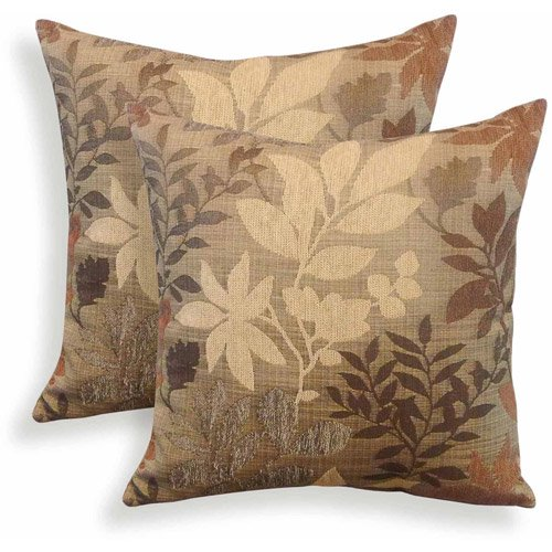Bristol Chenille Jacquard Leaf Toss Pillow, Set of 2 - Walmart.com