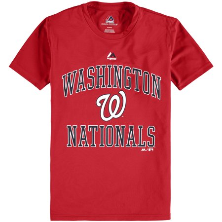 Youth Majestic Red Washington Nationals City Wide Cool Base T-Shirt