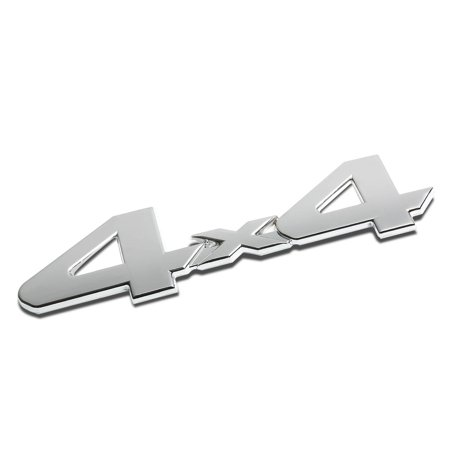 4x4 Parts Warehouse (3D Letter Metal Emblem 4x4 Badge (Silver) - Type2 )