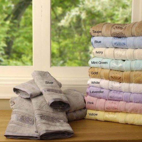 Simple Luxury Egyptian Cotton Jaquard 2pc Bath Towel Set