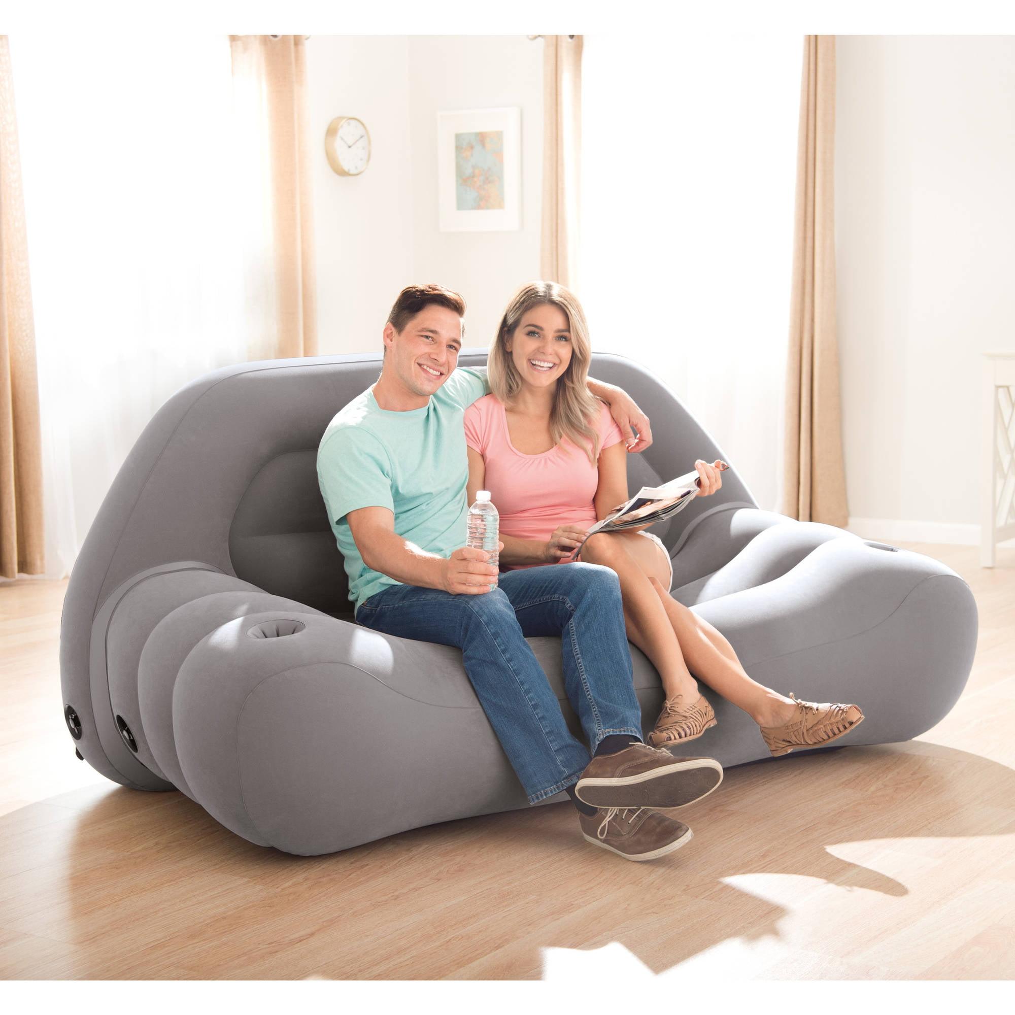 Intex Inflatable Camping Sofa 75 X 37 X 34 Walmart Com