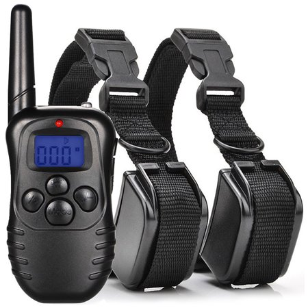 CoastaCloud ,Pets NO Barking Electric Rechargeable and Waterproof with Remote for Dogs collar Anti Bark Pet Training collars Shock Collar for 1 Dog or 2 Dogs,Two types (Type Dog)