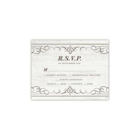 Personalized Wedding RSVP - Elegant Flourishes - 4.25 x 5.5