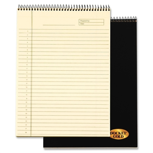 """TOPS Docket Gold Project Planner Pad - Action - 8.50"""" x 11"""" - Desk Pad - Ivory - Chipboard - Perforated"""