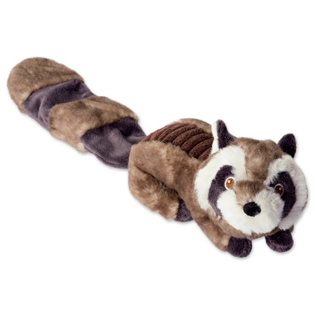 DII Bone Dry Crinkle Noise, Squeaking Plush Body Dog Toy, 1 Piece Sophie Raccoon Woodland Friends Pet Toy for Small, Medium and Large Dogs ()