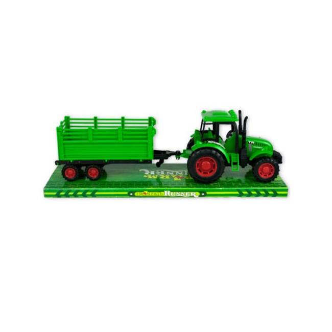 Kole Imports KL239-16 3 x 13 in. Friction Powered Farm Tractor Trailer Truck, 16 Piece by Kole Imports