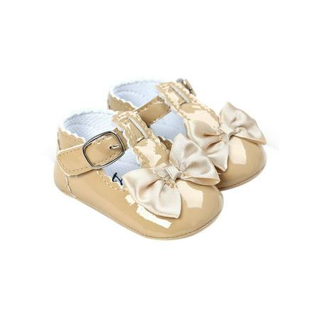 Girls Vans Slip On Shoes (Babula Newborn Baby Girl Bling Bowknot Anti-Slip Crib)