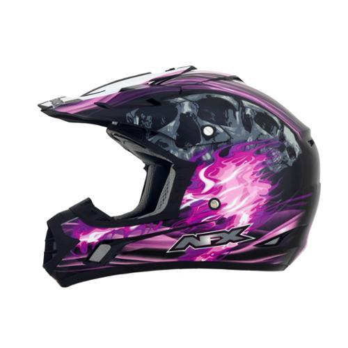 AFX FX-17 Inferno MX Offroad Helmet Black/Fuchsia Multi