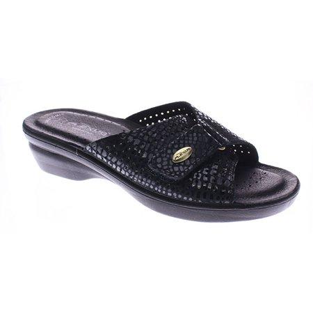 f3ea9ed69d04 Flexus Women s Carrie Slide Black Sandals 38 M EU 7.5-8 M - Walmart.com