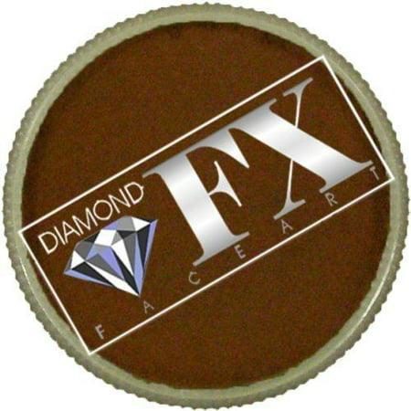 Diamond FX Essential Face Paint - Light Brown (30 gm) - Brown Face Paint Halloween