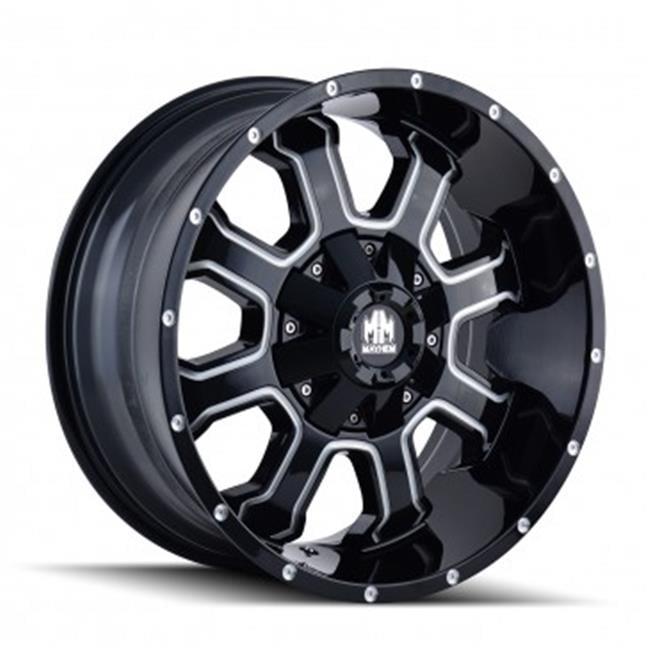 Mayhem 8103-2137M 6-135, 6-139.7 PCD Fierce Gloss Black Milled Spokes Wheel