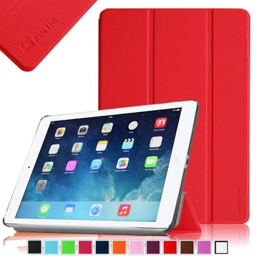 Fintie iPad Air SmartShell Case - Ultra Slim Lightweight Stand Smart Cover with Auto Wake / Sleep, Red