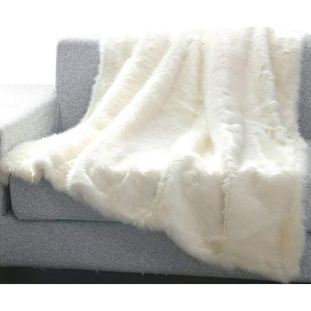 Ben&Jonah Into The Wild Heavy Faux Fur Throw Blanket (50