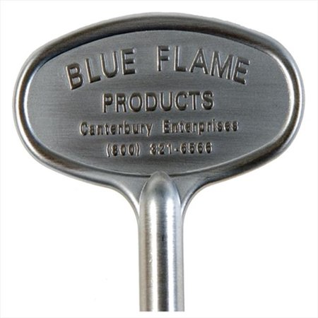 Blue Flame  Silver  Brass  Zinc  Gas Valve Key