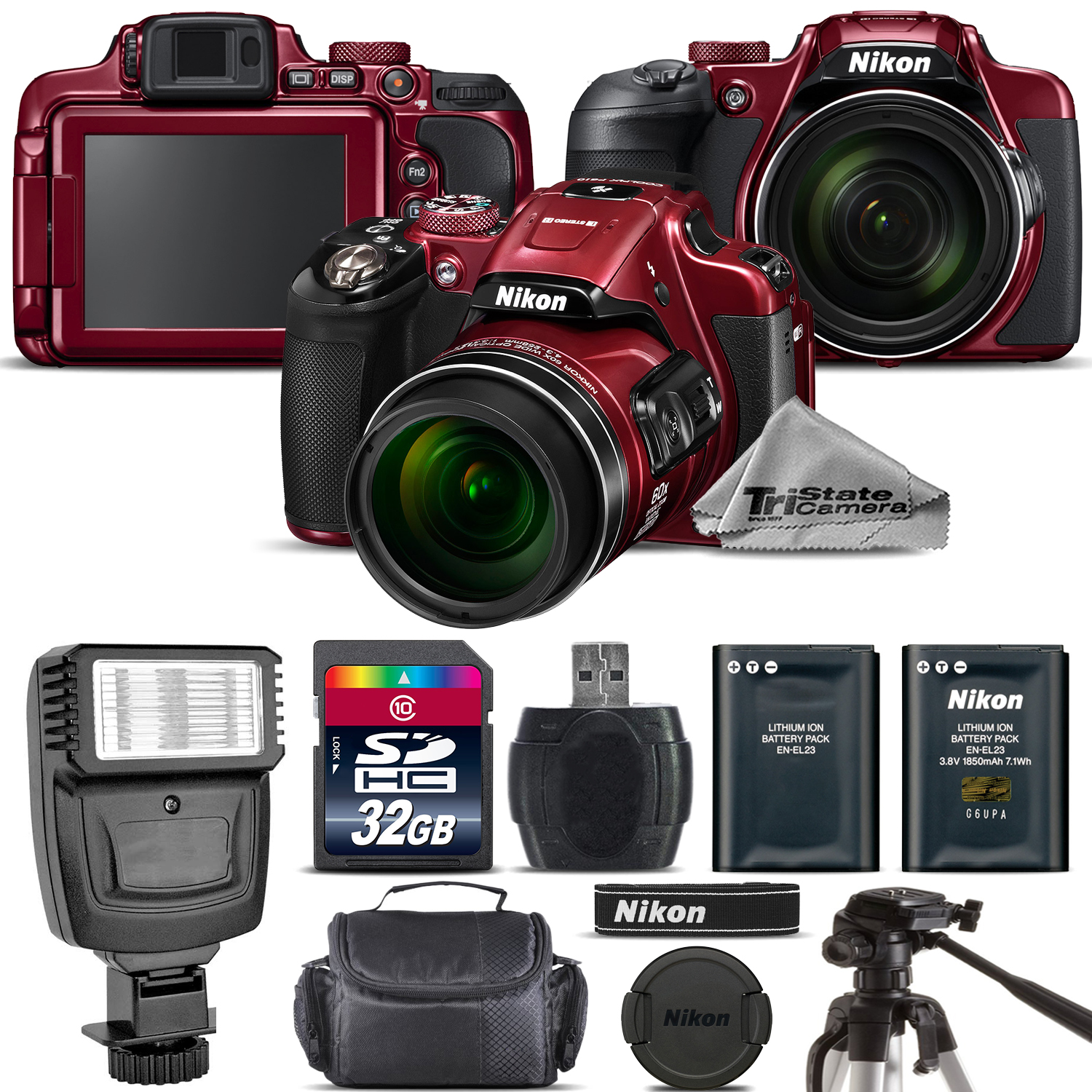 Nikon COOLPIX B700 (RED) 20.2MP 4K Video WiFi NFC Camera ...