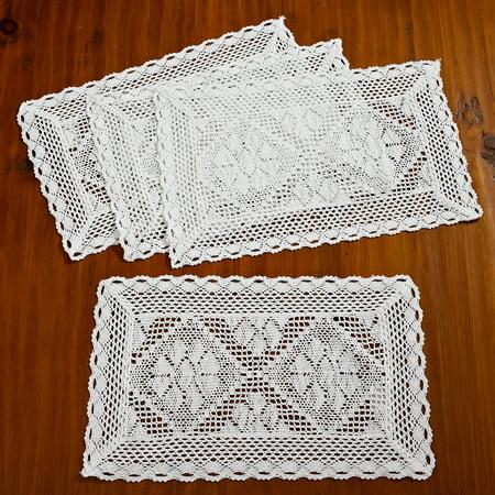 Stars Crochet Design Table Runner