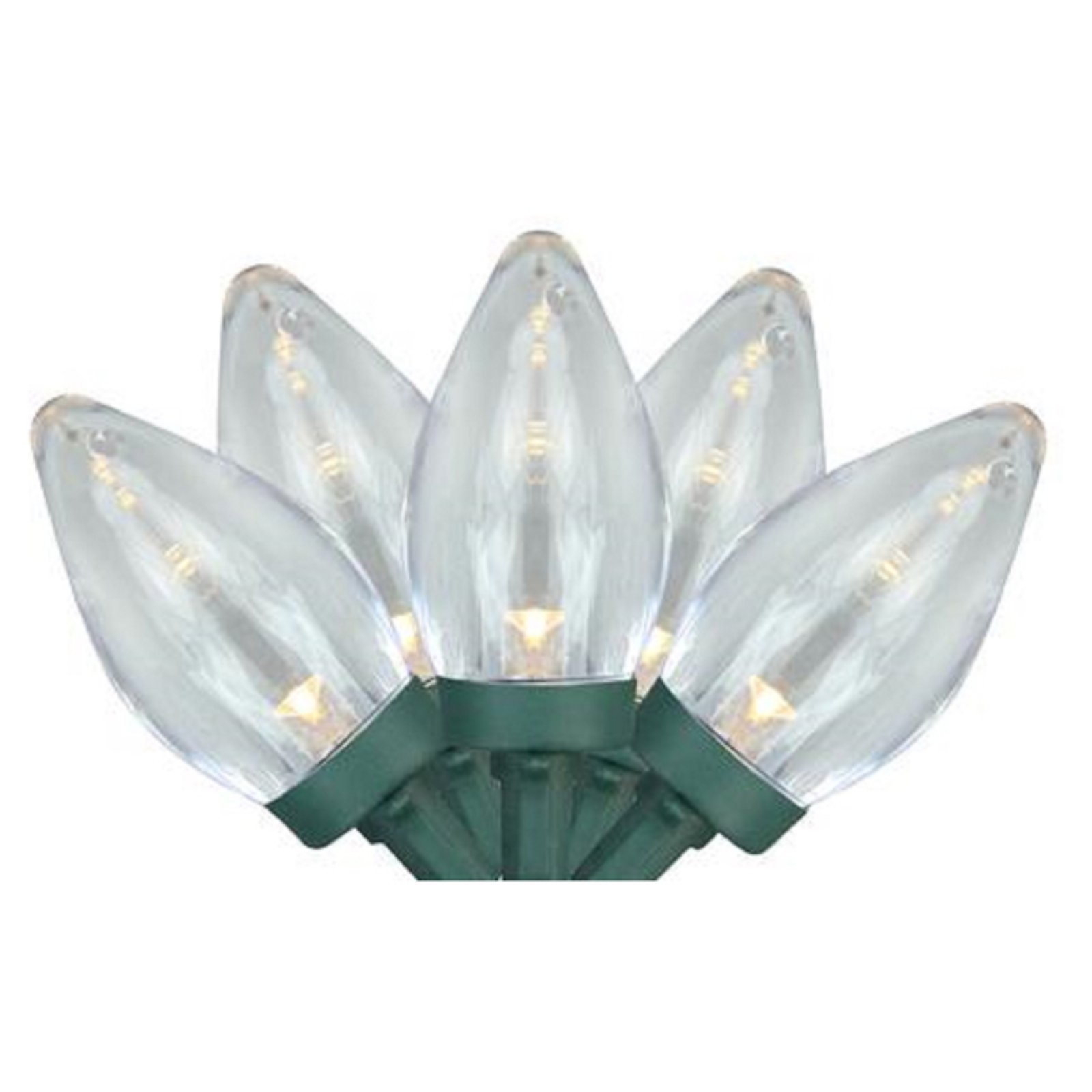 Northlight 25 LED C7 Christmas Lights on Green Wire