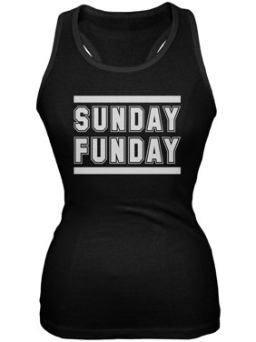 883b3b5174afd Product Image Sunday Funday Black Soft Juniors Tank Top