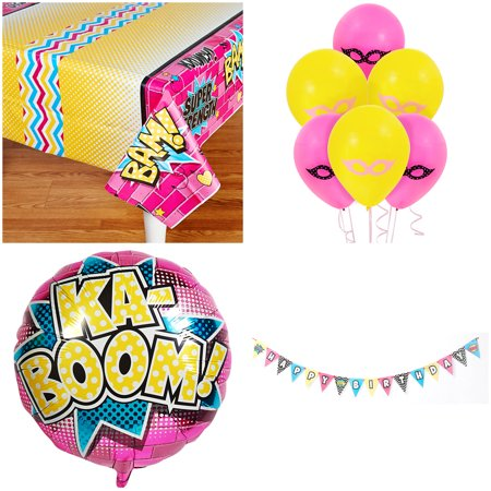 Super Hero Girls Party Supplies Birthday Decoration Kit](Girls Party Supplies)