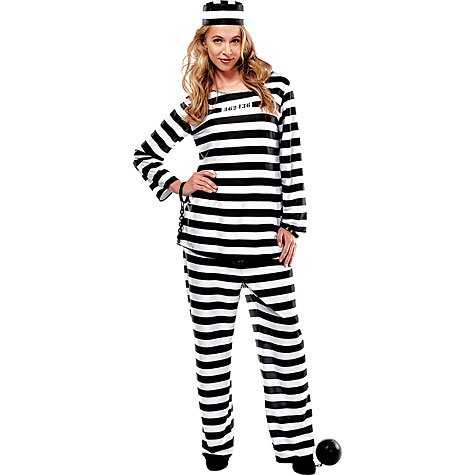 AMSCAN Lady Lawless Prisoner Halloween Costume for Women, Standard, with Included Accessories