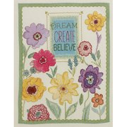 Bucilla Counted Cross Stitch Kit, 10 by 13-Inch, 45953 Dream, Create, Believe