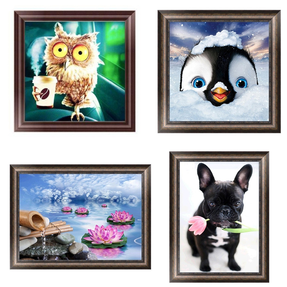 Girl12Queen 5D Animal DIY Diamond Embroidery Painting Home Room Cross Stitch Wall Decor