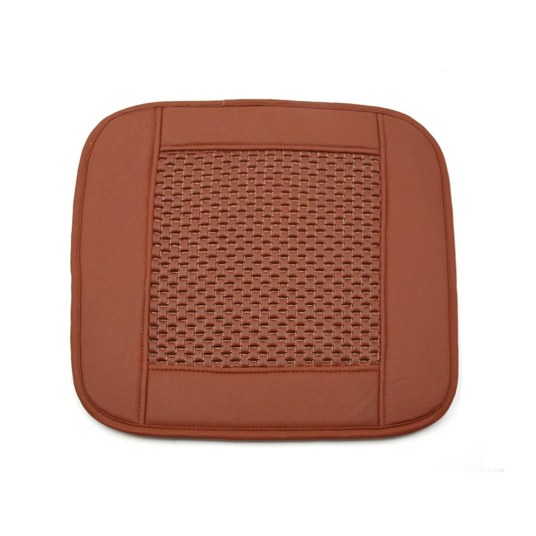 Orange Square Shaped PU Leather  Cushion Cover Pad for Car Automobile