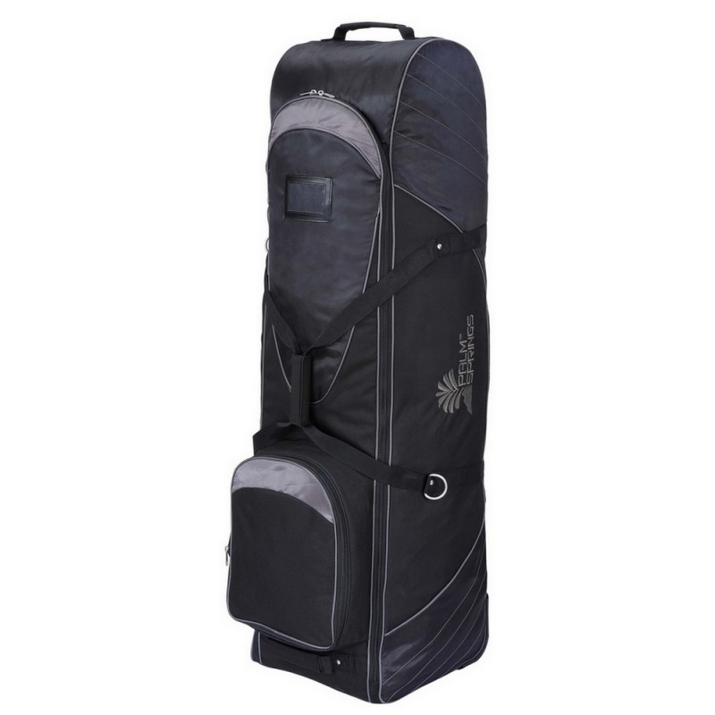 Palm Springs Golf Bag Tour Travel Cover V2 With Wheels Black Gray by