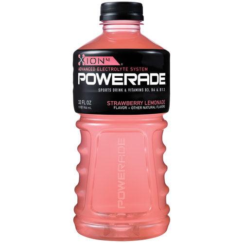 Powerade Strawberry-Lemonade Ion4 Sports Drink, 32 Fl Oz