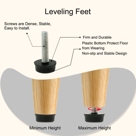 M6 x 24 x 18mm Furniture Glide Leveling Feet Floor Protector for Table Leg 12pcs - image 6 of 7