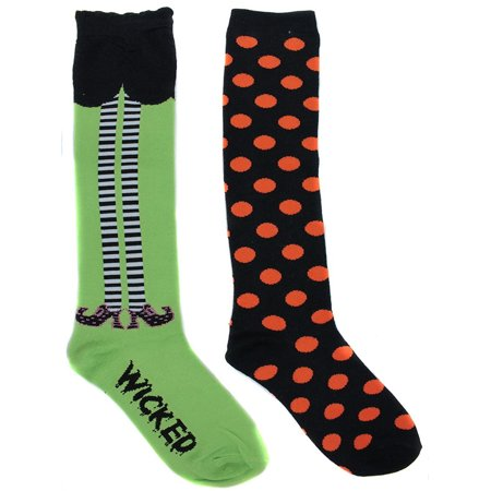 K. Bell Women's Wicked Witch Halloween Knee High Socks (2 Pair) - Halloween Knee High Socks Walmart