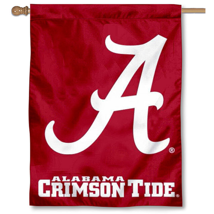 University of Alabama Crimson Tide Logo Flag
